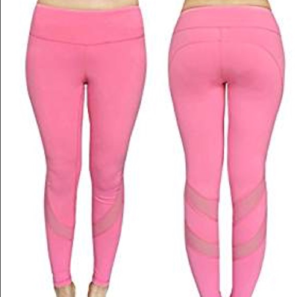 Fashion Nova Pants - Pastel Pink mesh cutout active yoga leggings 77f97bdb606